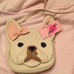 NWT Betsey Johnson French Bulldog Bag